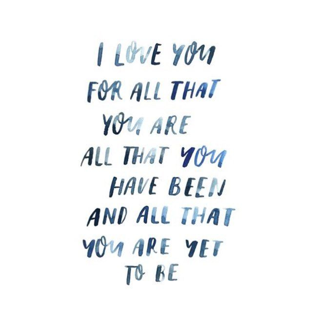For all that you are.  Watercolour Lettering by Renee Denaro  @sadiestreetdesignco