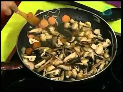 Recetas vegetarianas Pay de Champiñon - YouTube