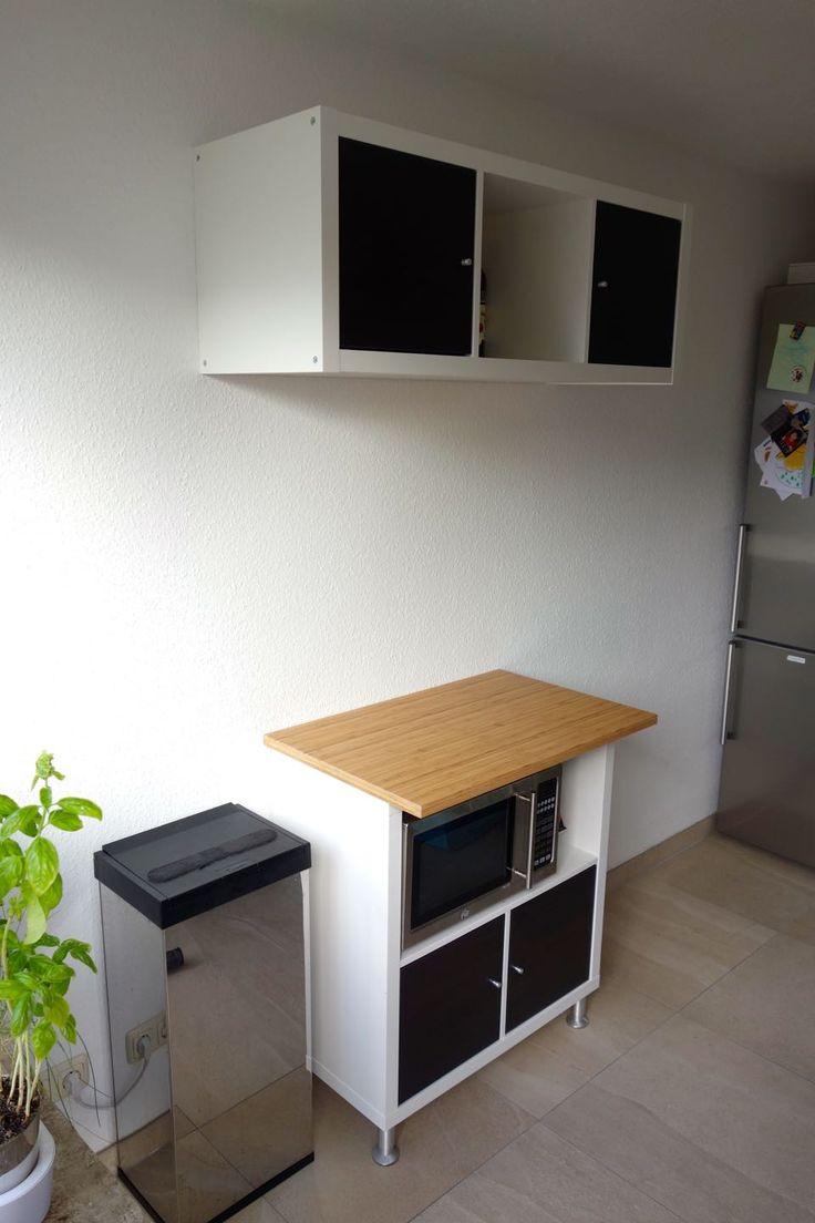 Küchenzeile mit IKEA Kallax in 2020 | Kochnische, Ikea ...