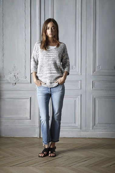 #spring #outfit #sweater #silver #ivory #cotton #linen #beautiful #fashion #womenswear