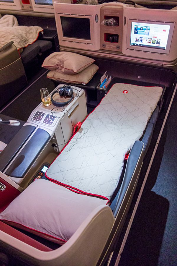 Pic: Turkish Airlines logo at new Business Class Cabin on Airbus A330-300 (Nov 2013) On November 4, 2013 I flew Turkish Airlines Business Class from Istanbul to Kuala Lumpur. Flight TK60 was origi…