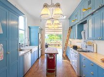 LOVE the library ladder in the kitchen for super tall cabinets! Kitchen of the Week: Pushing Boundaries in a San Francisco Victorian