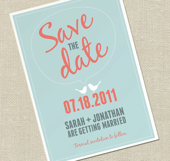Simple save the date with great colors and type