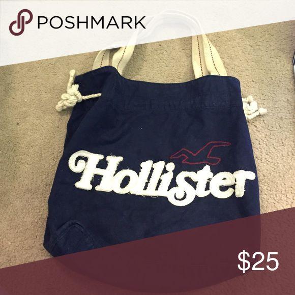 Hollister tote bag Large over the shoulder navy hollister tote bag Hollister Bags Totes