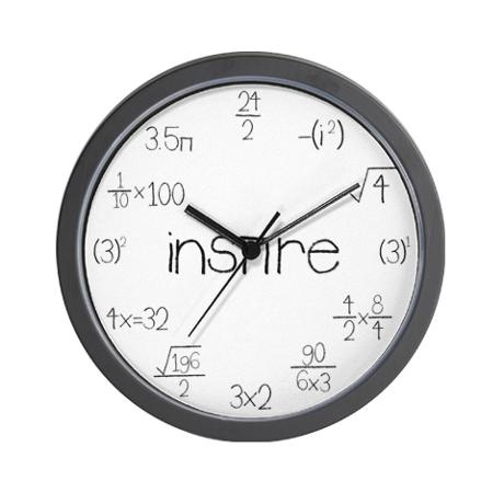 Find a second-hand clock (no pun intended-- kind of) and replace the face with math equations!