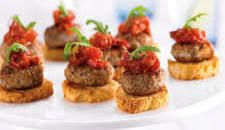 Mini Meatball Crostini Recipe : Food Network