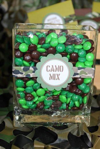 This would be great for a laser tag party! Green camouflage party ideas from Catch My Party