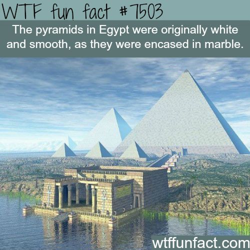 How the pyramids actually looked like - WTF FUN FACTS