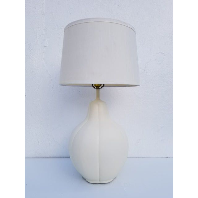 1980s Vintage Alsy Signed White Ceramic Table Lamp Chairish Vintage Floor Lamp Lamp Column Floor Lamp