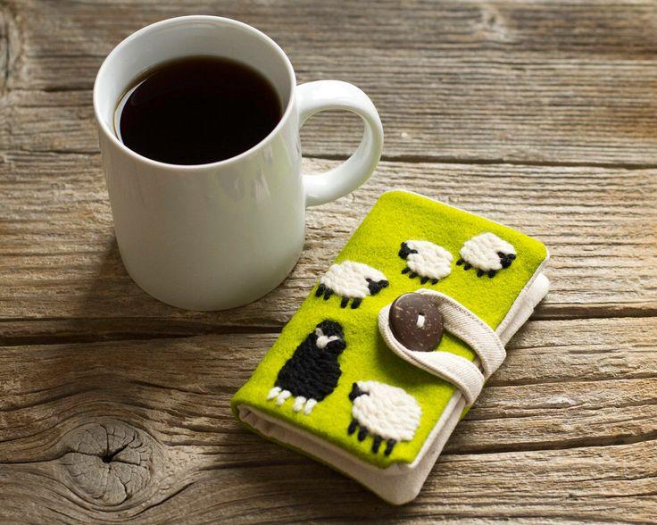 Black Sheep Felt Tea Wallet, Wool Tea Holder, Gift for Tea Lover by Yanettine on Etsy https://www.etsy.com/listing/473151313/black-sheep-felt-tea-wallet-wool-tea