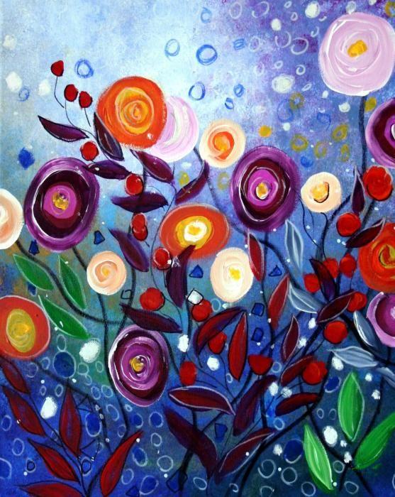 Happy D Artist Oil Painting Flower