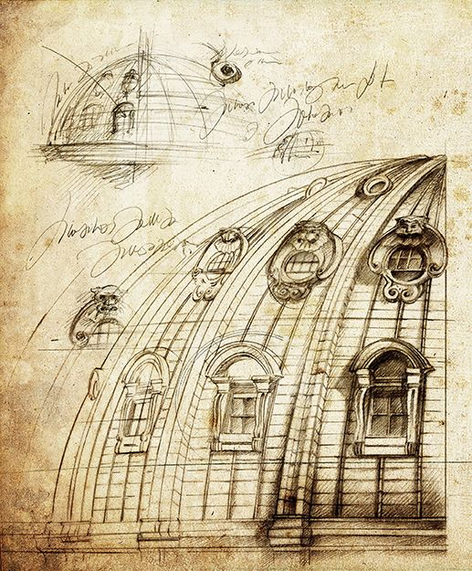illustration architecture dome ROME Florence Gendre
