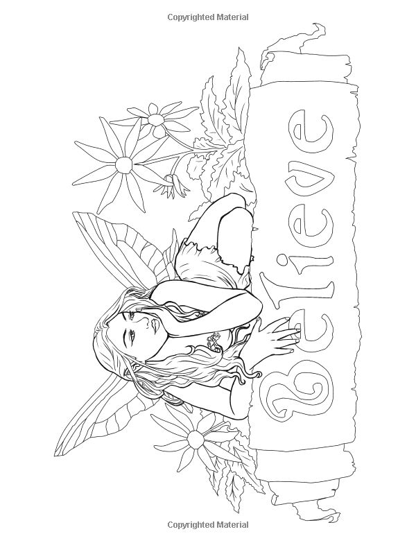 Fairy Art Coloring Book by Selina Fenech: Fairy Myth Mythical Mystical Legend Elf Fairy Fae Wings Fantasy Elves Faries Sprite Nymph Pixie Faeries Hadas Enchantment Forest Whimsical Whimsy Mischievous Coloring pages colouring adult detailed advanced printable Kleuren voor volwassenen coloriage pour adulte anti-stress kleurplaat voor volwassenen Line Art Black and White