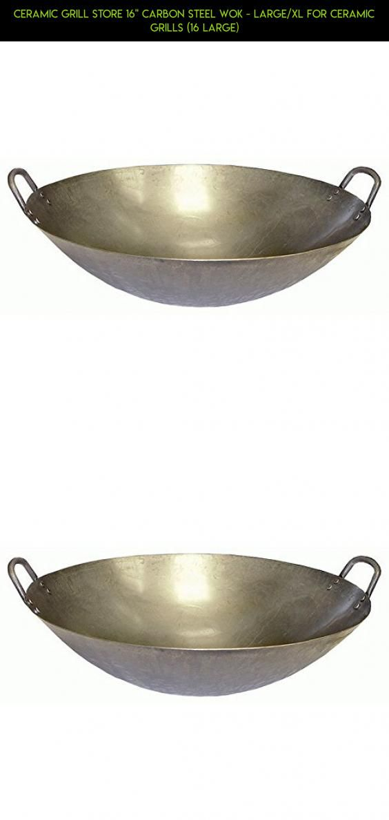 """Ceramic Grill Store 16"""" Carbon Steel Wok - Large/XL for Ceramic Grills (16 Large) #wok #camera #fpv #outdoor #technology #products #shopping #kit #gadgets #cooking #plans #parts #drone #tech #racing"""