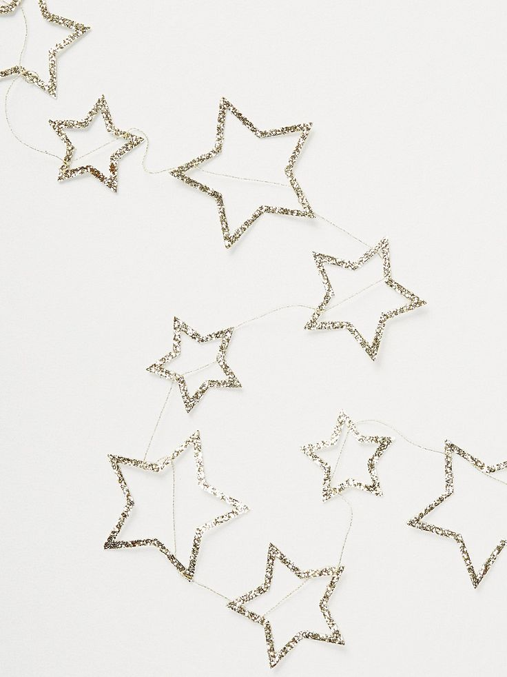 Meri Meri Glitter Star Party Garland at Free People Clothing Boutique