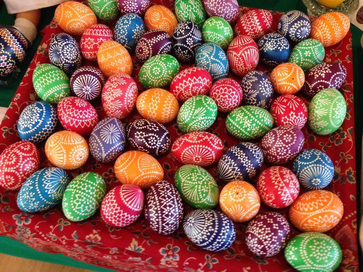 Sorbische Ostereier / Sorbian Easter Eggs Ostereiermarkt Schleife / Sachsen 2014