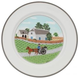 Villeroy & Boch Design Naif Dinner Plate #1 Going To Market 10 1/2 in-20