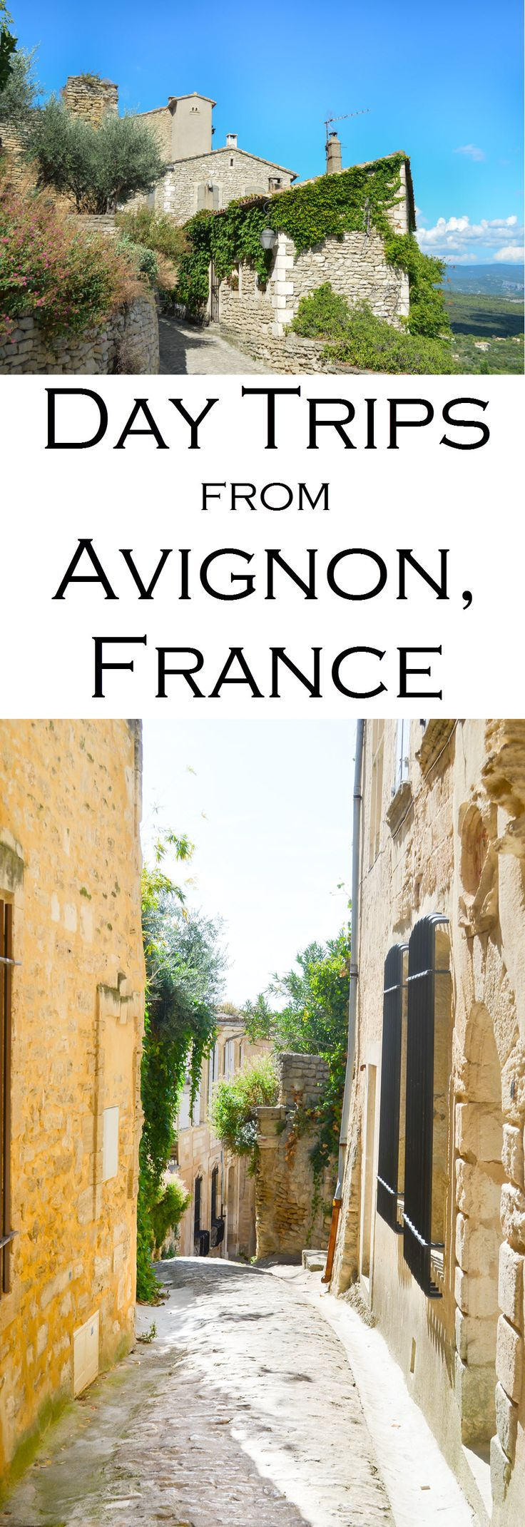 Fabulous day trips from Avignon in Provence, France. Drive the French backroads to wineries, rolling hills of lavender, hilltop towns, and the Venice of France...