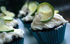 Veganska choklad cupcakes med lime frosting