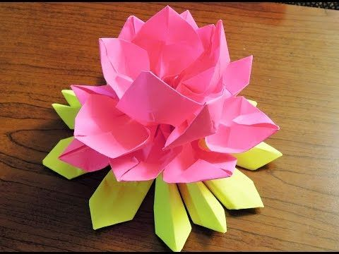 How to make Paper Origami Lotus - YouTube