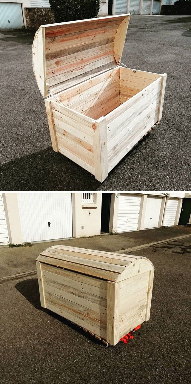 upcycled unique pallet storage box ideas - | woodworking