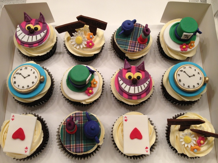 mad hatter cupcakes - photo #23