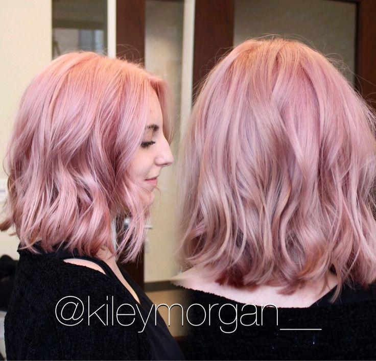Rᴏsᴇ Qᴜᴀʀᴛᴢ  Pravana Pretty in pink clear & a little magenta. Pre lightened with blondor cream lightener  #modernsalon #KMArtistry by kileymorgan__