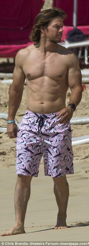 Looking good! Mark Wahlberg and his wife Rhea Durham soaked up the sun in Barbados on Mond...