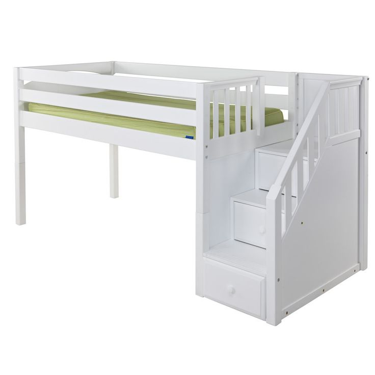 bethefoodie whistler with loft com in home junior twin awe canwood white wooden shipping design bed desk free