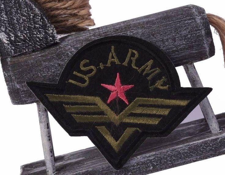 Ecusson brodé galon thermocollant braid US Army patch 9 cm de la boutique LiliesScrap sur Etsy