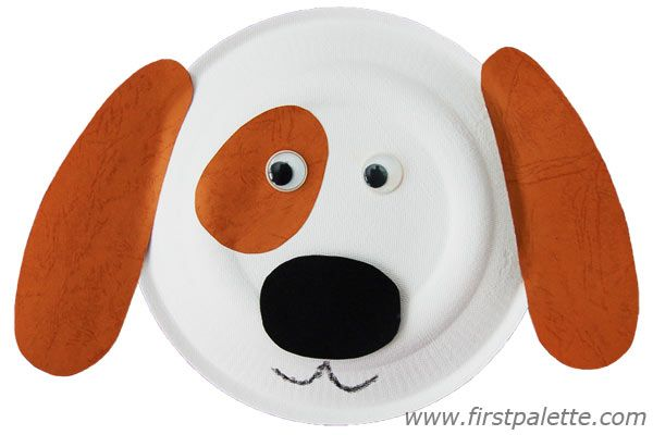 PAPER PLATE ANIMALS Cld use felt for ears & spots for different texture