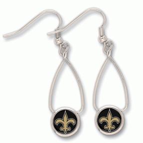Saints French Loop Earrings #Saints #NOLA #Jewelry