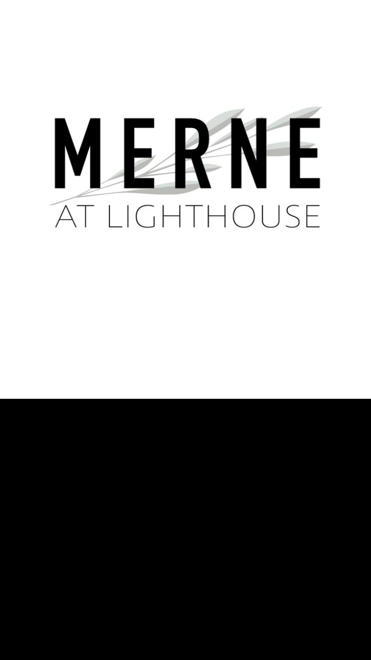 Logo and branding for new restaurant Merne at Lighthouse, Victoria.