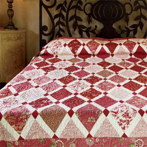 Harlequin: FREE Classic Diamond Lap Quilt Pattern Adapted from a Quilt Designed by SUSAN GUZMAN
