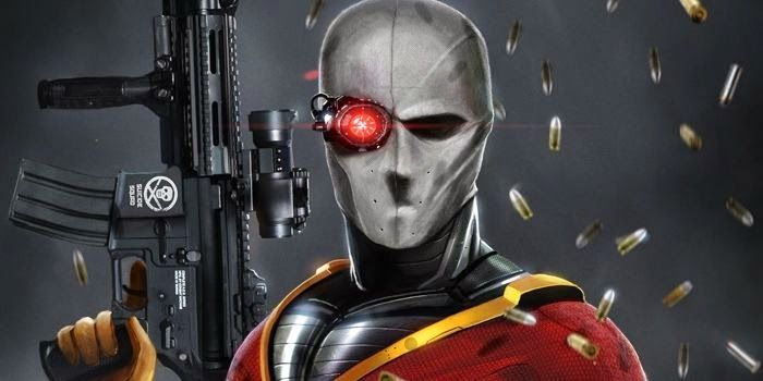 This is Will Smith's REAL Deadshot costume! It looks awesome, check it out! #SuicideSquad #Deadshot #movies #DC #superhero