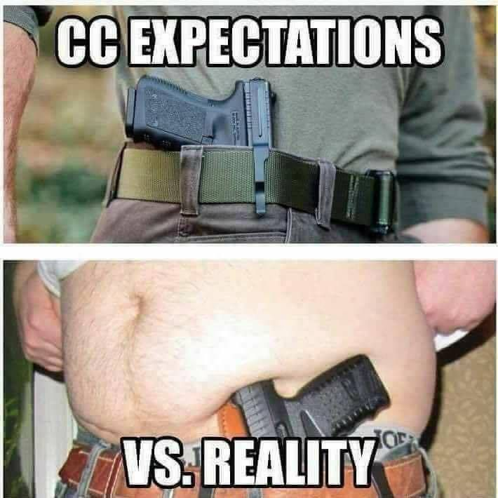 Concealed carry expectations vs. reality