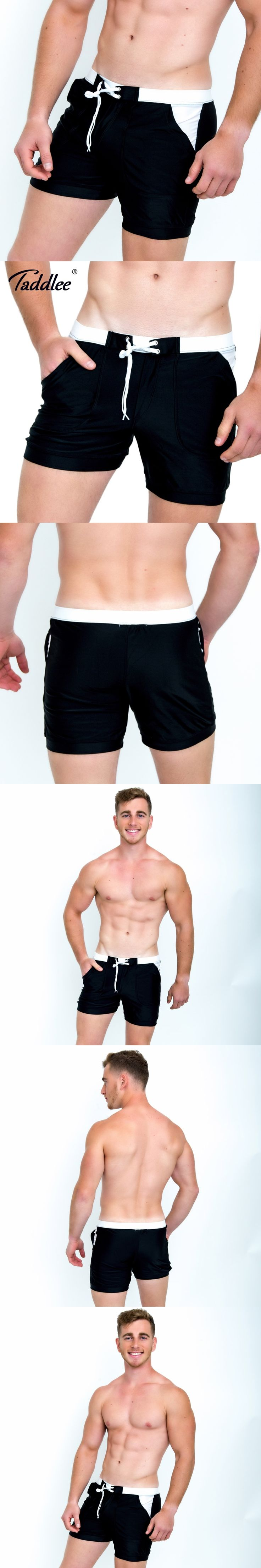 Taddlee Brand Hot Sale Sexy Men Swimwear Swim Boxer Trunks Beach Board Shorts Plus Big Size Solid Color Basic Men's Swimsuits