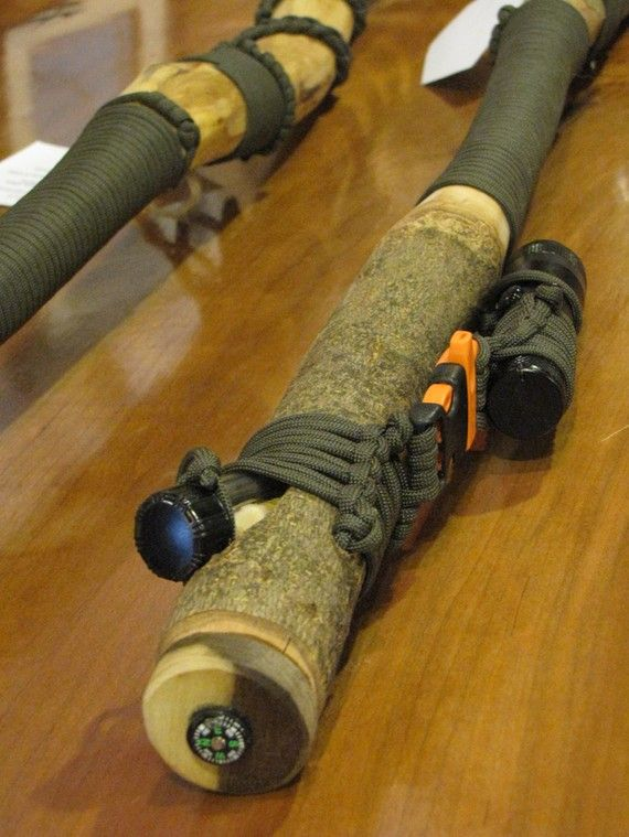 1. Learn the proper use and benefit of a walking stick. 2. Train in staff weapon defense.  3. When attaching tools and modifications to the stick, be sure to have duplicates in the rucksack in case I lose the stick.