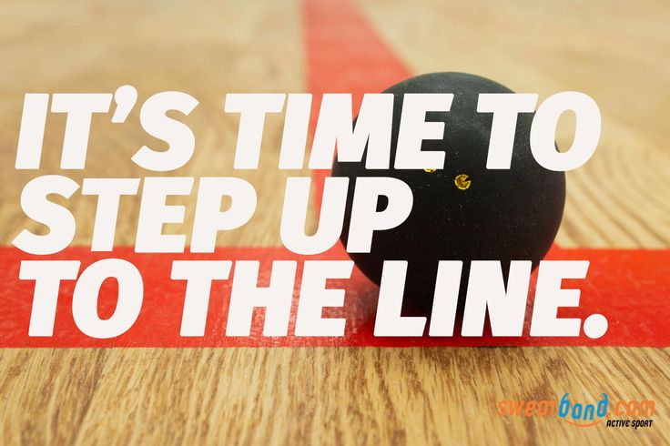 Get your gear and step up to the line! #squash