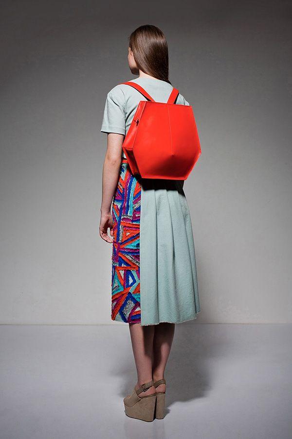 WINK GEOM leather bag. Designer: Kitti Macovei