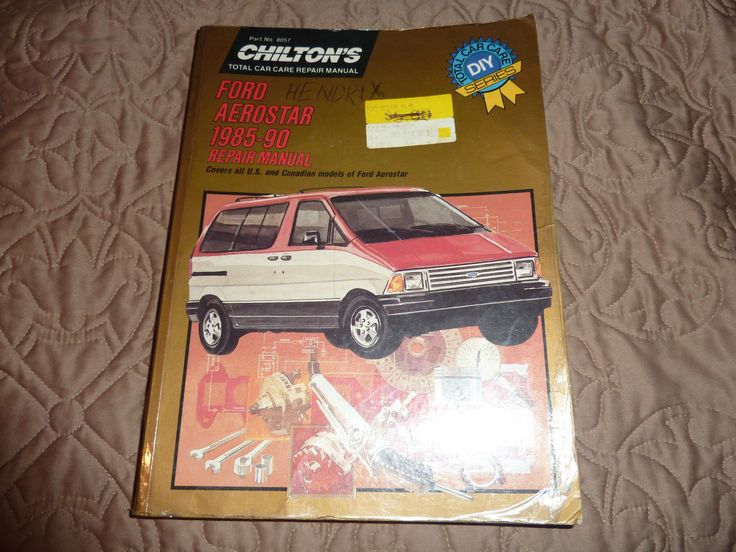 Chilton U0026 39 S 8057 Repair Manual Ford Aerostar 1985