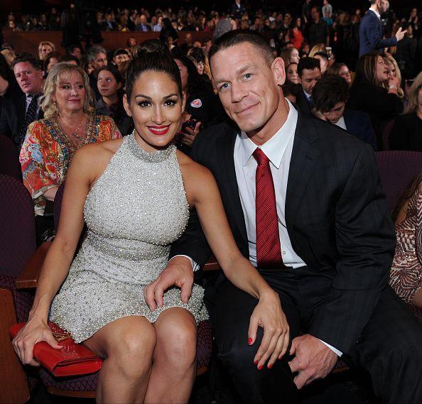 John Cena and His Wife on Award Day