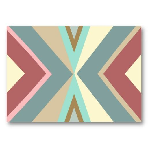 19 best native american business cards images on pinterest abstract tribal blue red pink triangles pattern business cards colourmoves Choice Image