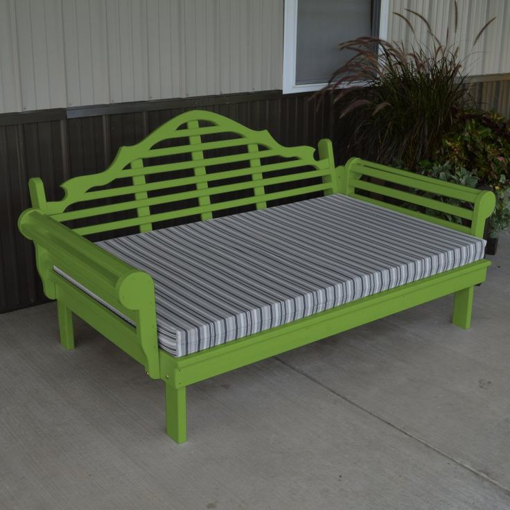 Outdoor A & L Furniture Yellow Pine Marlboro Daybed Lime Green - 521-LIME GREEN