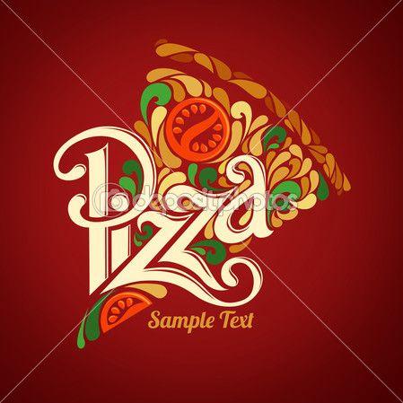 modelo de design de pizza — Ilustração de Stock #38989795
