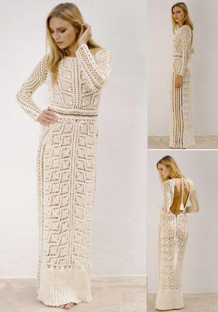 flook the label maya crochet maxi dress
