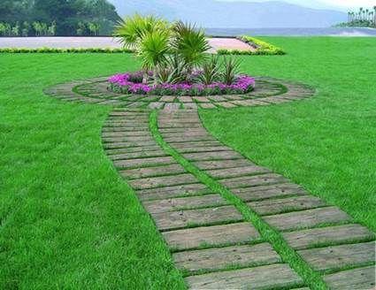 Camino de madera para el jardín