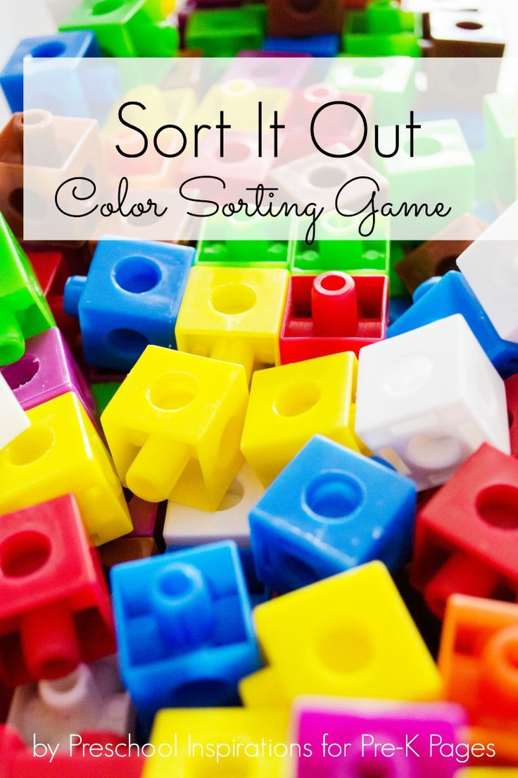 Primary color games for preschoolers - Sort It Out Color Sorting Game
