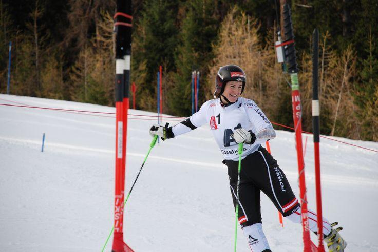 Elisabeth Görgl training auf der Reiteralm.