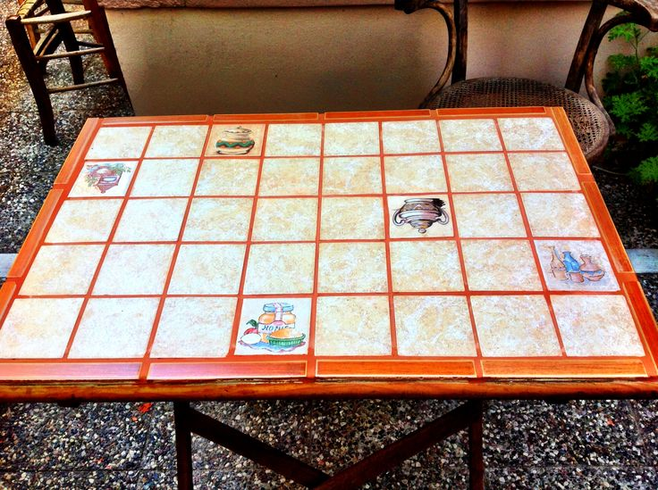 DIY coffee table with tiles!